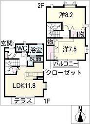 [タウンハウス] 愛知県名古屋市千種区鹿子町7丁目 の賃貸【/】の間取り