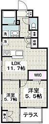 (仮称)平戸町メゾンA棟 1階2LDKの間取り