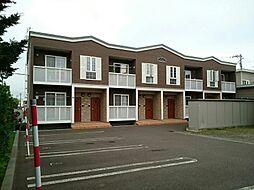 北海道札幌市西区発寒七条14丁目の賃貸アパートの外観