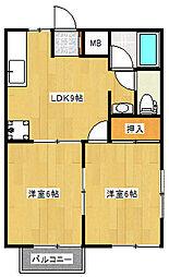 プスパハウス[2階]の間取り