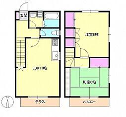[テラスハウス] 東京都八王子市館町 の賃貸【東京都 / 八王子市】の間取り