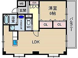 玉櫛ビューハイツ[1階]の間取り