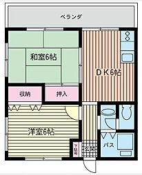 ユーハイム[0203号室]の間取り