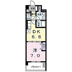 兵庫県西宮市林田町の賃貸マンションの間取り