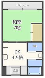 内山マンション[5階]の間取り