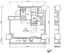 パークキューブ愛宕山タワー[4階]の間取り
