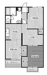 サンモール神明[1階]の間取り