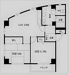 Reve甲東園II[201号室]の間取り
