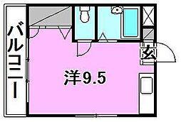 キャバリア館[402 号室号室]の間取り