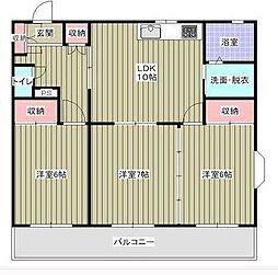 ロイヤルプラザ高田[3階]の間取り