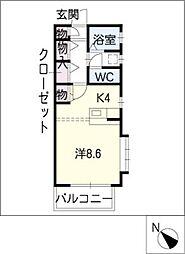 ステイツイトキ滝ノ水[2階]の間取り
