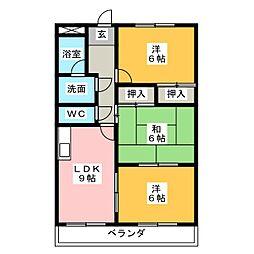 エレガントレーベン A棟[2階]の間取り