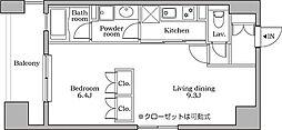 東京都港区芝大門1丁目の賃貸マンションの間取り