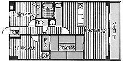 朝日プラザ堺東II(安井小学校区)2[6階]の間取り
