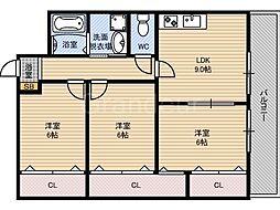 ピュアライズ京橋[2階]の間取り