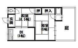 永井ハイツ[207号室]の間取り