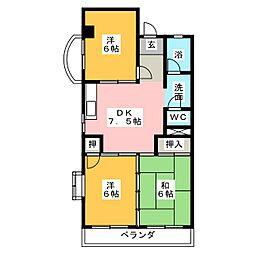 メゾン猪高台[3階]の間取り