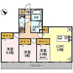 (仮称)D-room和泉市池上町3丁目[3B号室]の間取り