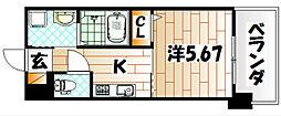 アースコートYSシティ東神原[4階]の間取り