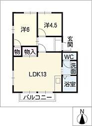 HOUSE UNOB棟[2階]の間取り