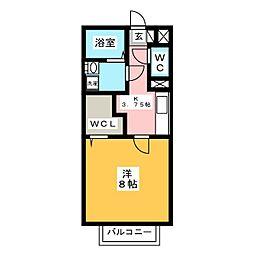 セジュール野口[1階]の間取り