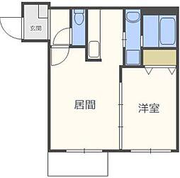 仮)N36W3マンション[3階]の間取り