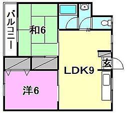 松田マンション[303 号室号室]の間取り