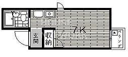 コーポ近江屋[3B号室号室]の間取り