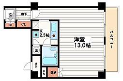 パレロワイヤル順慶町[5階]の間取り