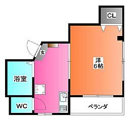 ネオ・クリスタルビル・ネジメ[5階]の間取り