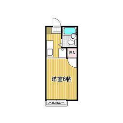 レインボーハイツ平松[203号室]の間取り