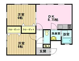 ガーデン広野III[206号室]の間取り