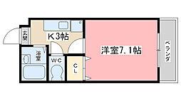 エクセレント山田[207号室]の間取り