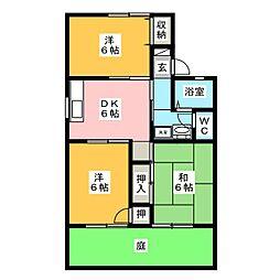 ハウスオブイマイセC[2階]の間取り