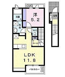 アンソレイエハイムIII[2階]の間取り