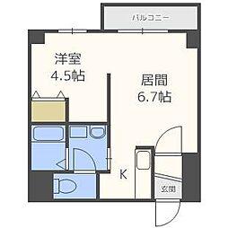 札幌レジデンス桑園[3階]の間取り