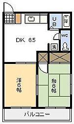 コーポ城丸[105号室]の間取り