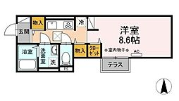 (仮)D-room海老名市国分南 1階1Kの間取り