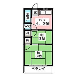 アサヒマンション[4階]の間取り