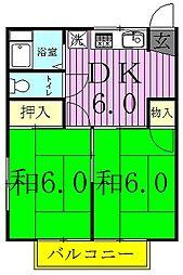 コーポヤブサキ[1階]の間取り