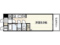 AXiS大塚西 7階ワンルームの間取り