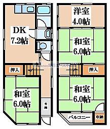 稲葉4丁目貸家 1階4DKの間取り