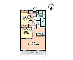 ディベルティ観音寺新町[302号室]の間取り