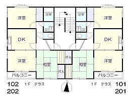 メゾン桂[2階]の間取り