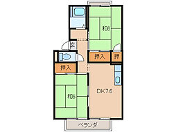 コーポパルファム[2階]の間取り