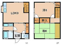 辻本住宅III[1階]の間取り