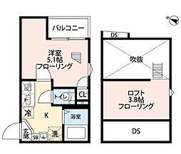 グランクオール江古田 3階1Kの間取り