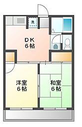 メゾンクリスタル[2階]の間取り