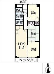 ラ・メゾンクレール[5階]の間取り