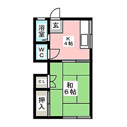 竹荘[1階]の間取り